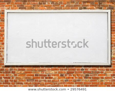 большой Billboard белый бумаги готовый текста Сток-фото © latent