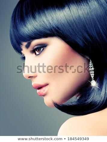 Brunette model with fringe Stock photo © photography33