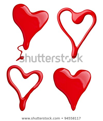 Unha polonês forma de coração símbolo branco moda beleza Foto stock © calvste