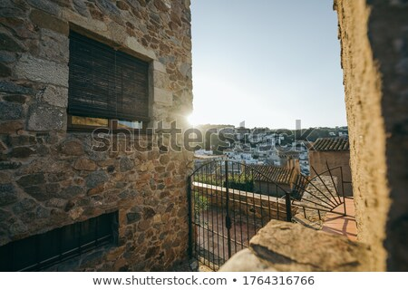 Couple in front of tall buildings area Stock photo © photography33