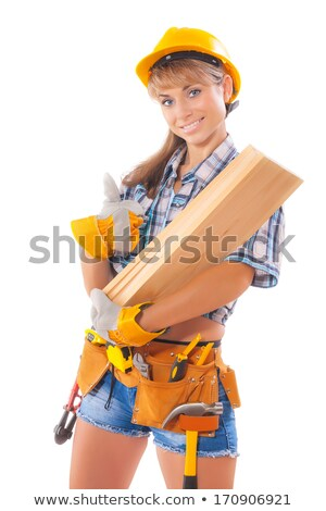 Female construction worker in shorts Stock photo © photography33