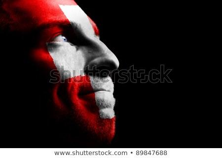 éljenez sportok szurkolók fotó három férfi Stock fotó © sumners