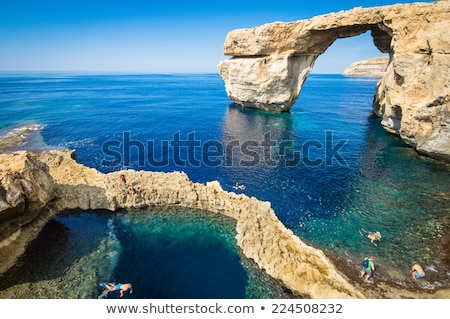 A Collapsed Sea Cave on the Coast Stock photo © wildnerdpix