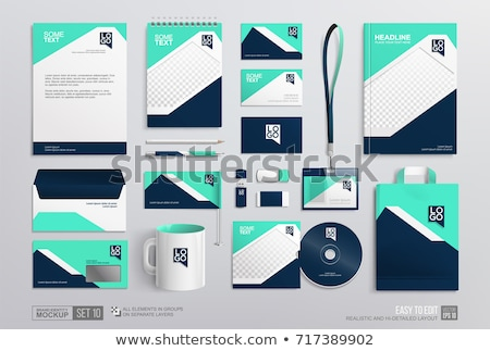 abstract colorful corporate id template Stock photo © pathakdesigner