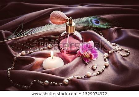 klasszikus · parfüm · üveg · nő · tart · kéz - stock fotó © hectorsnchz