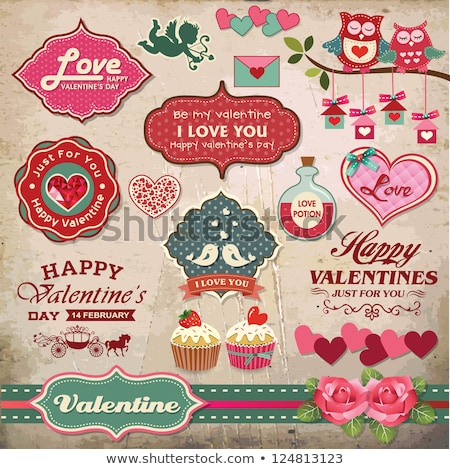 birds couple design for valentines day stock photo © creative_stock