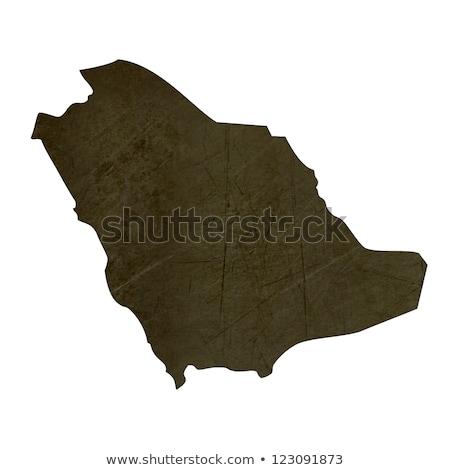 Dark silhouetted map of Saudi Arabia Stock photo © speedfighter