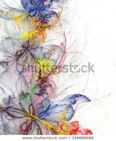 Gossamer Flowers Background Stock photo © AlienCat