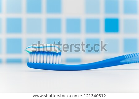 Bleu brosse à dents blanche soins plastique Photo stock © wavebreak_media