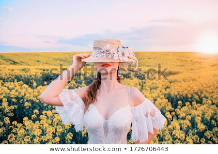 lady in yellow corset Stock photo © dolgachov
