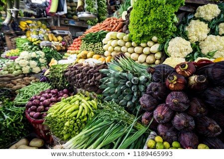vegetables on market in india stock photo © mikko