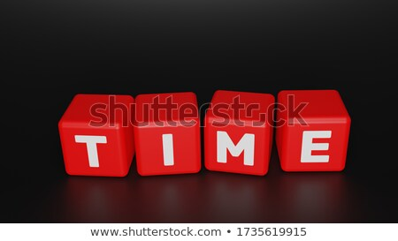 time for action in 3d letters and block Stock photo © marinini
