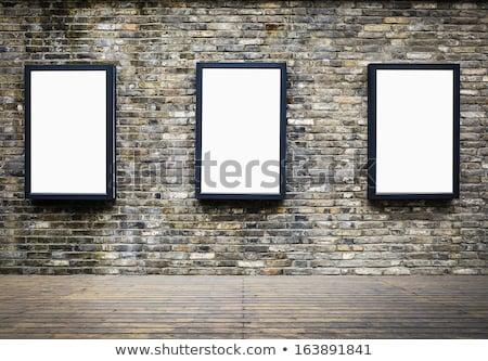 três · metal · quadro · branco · espaço · quadro · de · avisos - foto stock © badmanproduction