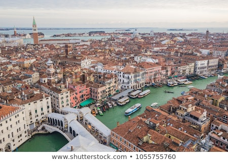 Aerial view of Venice city at evening Stock photo © artjazz