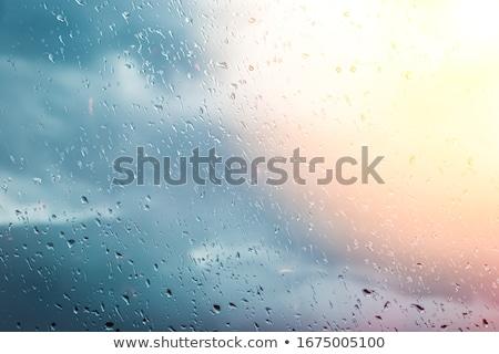 Vintage szkła deszcz burzy retro Zdjęcia stock © pashabo
