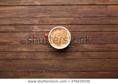 Delicious coffee at the wood table. Stock photo © justinb