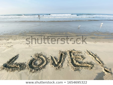Message In Sand Stock photo © cosma