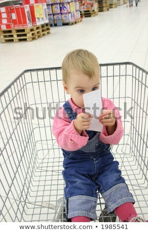 baby in shopingcart watch check Stock photo © Paha_L