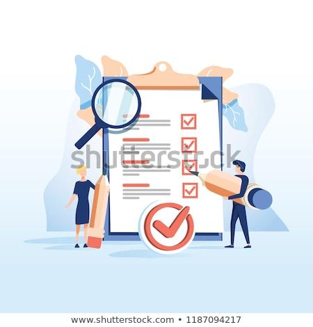 Survey Concept on White Background. Stock photo © tashatuvango