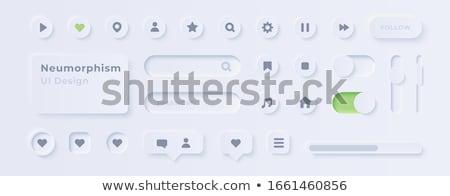 Stock fotó: Ui · elemek · vektor · felhasználó · interfész · zene