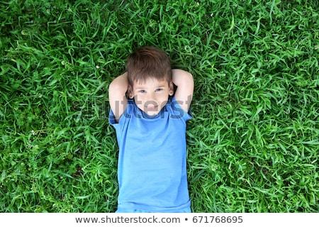 счастливым · мало · мальчика · красивой · зеленый · желтый - Сток-фото © vlad_star