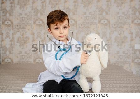 Kicsi baba fiú játék játékok zuhany Stock fotó © balasoiu