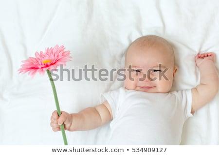 ребенка · цветок · белый · кровать · природы · модель - Сток-фото © nikkos