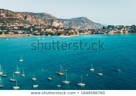 aerial view on port of nice and luxury yachts french riviera f stock photo © anshar