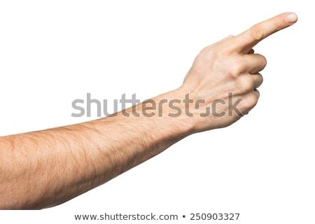жест · человека · стороны · открытых · изолированный · белый - Сток-фото © tungphoto