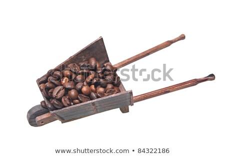 Kávé talicska tele fa kávé reggeli Stock fotó © kbuntu
