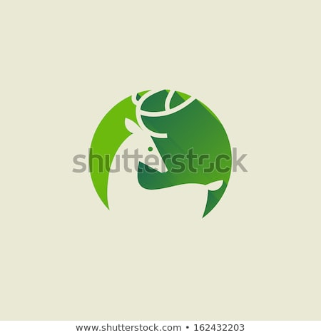 Deer. Elegant flat icon with long shadow. Vector illustration stock photo © ussr