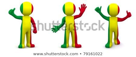 флаг · Мали · флагшток · 3d · визуализации · изолированный · белый - Сток-фото © kirill_m