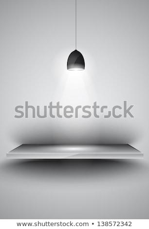 Shef with 3 spotlights lamp with directional light Stock photo © DavidArts