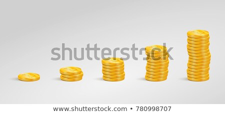 financial concept   graph of the columns of coins stock photo © oly5