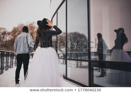Braut · Boxhandschuhe · Frauen · Porträt · Ehe - stock foto © jarp17