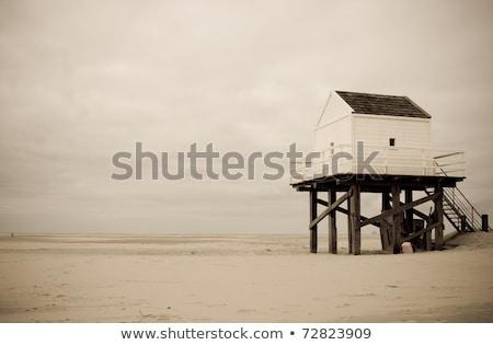 Fából készült óra kunyhó óceán Miami dél Stock fotó © meinzahn