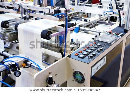 パネル 製造 マシン 安全 操作 作業 ストックフォト © OleksandrO