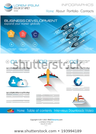 Attractive Modern Web Template with flat UI elements. Stock photo © DavidArts