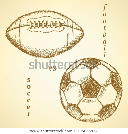 sketch soccer versus american football ball stock photo © kali