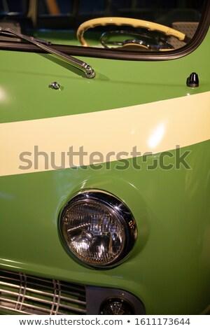 Hippie carro pintado flores modelo Foto stock © Hochwander