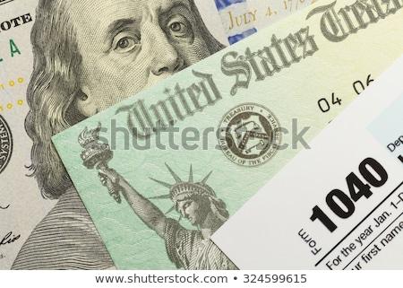 Fiscali ritorno forma finanziare numeri contabili Foto d'archivio © njnightsky