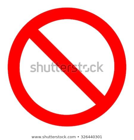 illustration of prohibited sign  Stock photo © nezezon