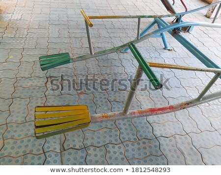 Painted Steel Teeter Totter stock photo © rhamm