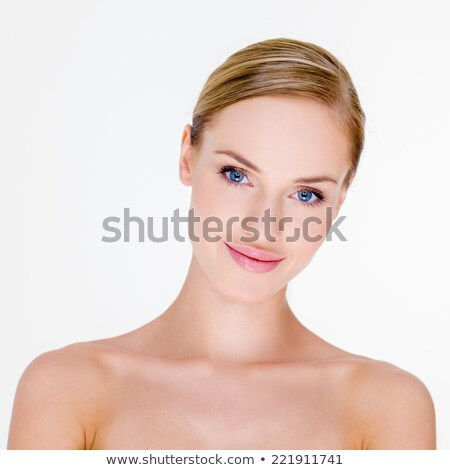 Blond Woman with Bare Shoulders in Studio Stock photo © dash