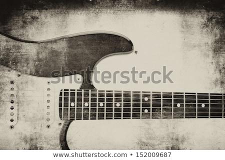 oude · gitaar · saxofoon · saxofoon · retro - stockfoto © lizard