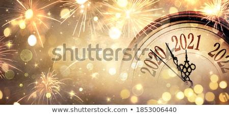 Odliczanie nowy rok ilustracja strony szkła piasku Zdjęcia stock © adrenalina