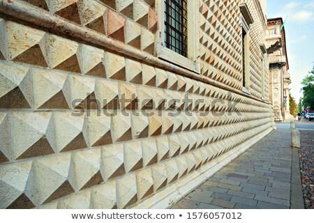 İtalya elmas duvar ünlü eski Stok fotoğraf © eddygaleotti