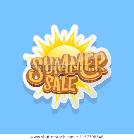 Summer Deals Blue Vector Icon Button Stock photo © rizwanali3d
