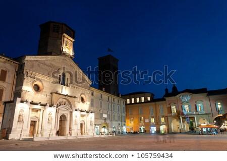 Katedral şehir salon gece görmek kuzey Stok fotoğraf © eddygaleotti