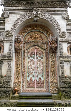 Decorated door to hindu temple, Bali, Indonesia Stock photo © dinozzaver